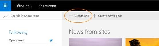 Create new group site-1
